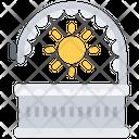 Solarium Tan Sun Icon