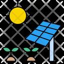 Solarpanel Plant Crops Icon