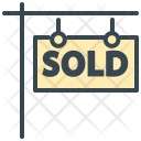 Sold Board Signboard Icon