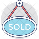 Sold Signboard Out Icon