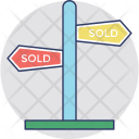 Sold Signpost Out Icon