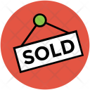 Sold House Sign Icon