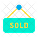 Home Sold House Sold Sold Signboard Icon