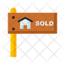 Sold Property Sold Sold Signbard Icon