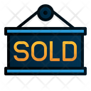 Sold Signage Label Icon