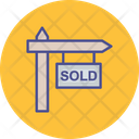 Sold Sign Home Icon
