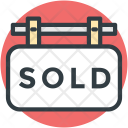 Sold Sign Hanging Icon