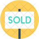 Sold Signboard Hanging Icon