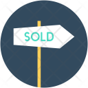 Sold Signpost Signage Icon