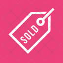 Sold Tag Label Icon