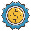 Sold Badge Dollar Icon
