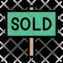 Sold Board Sold Tag Icon