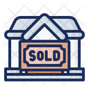 Sold Home Sold House Real Estate Icon