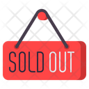 Msold Out Sold Out Out Of Sock Icon