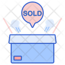 Sold Out Sold Parcel Icon