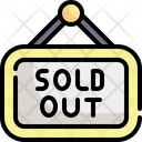 Sold Out Sold Commerce And Shopping Icon