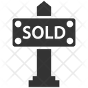 Sign Sold Sign Board Icon