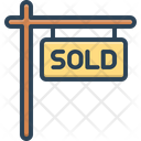 Sold Sign Sale Marketing Icon
