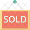 Sold Signboard Sold Hanging Sign Icon