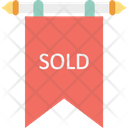 Sold Sign Board Sold Hanging Sign Icon