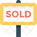 Sold Sign Board Icon