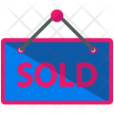Signboard Sold Sign Icon