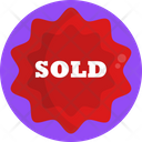 Sold Tag Sold Label Sold Signboard Icon