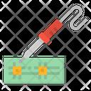 Soldering Iron Construction Icon