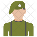Soldier Fighter Army Person Icon