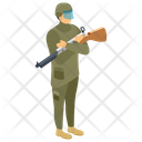 Soldier Military Person Fighter Icon