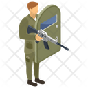 War Soldier Military Person Icon