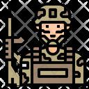Isoldier Soldier Uniform Icon
