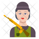 Soldier Female Girl Icon