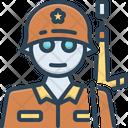 Soldier Man Of War Fighter Icon