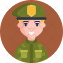 Soldier Green Badge Icon