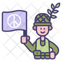 Soldier Peace War Icon
