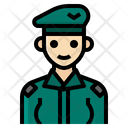 Soldier Woman Occupation Female Military Icon