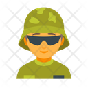 Army Helmet Male Icon