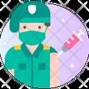 Male Soldier Vaccination Icon