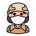 Soldier Avatar Woman Icon