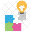 Solution Problem Solution Jigsaw Puzzle Icon