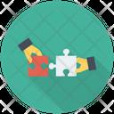Solution Teamwork Jigsaw Icon