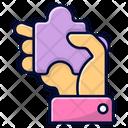Hand Puzzle Puzzle Piece Icon