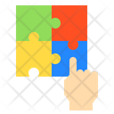 Hand Jigsaw Puzzle Icon