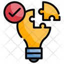 Solution Invention Lightbulb Icon