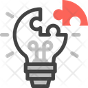 Solution Light Bulb Puzzle Icon