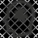 Puzzle Head Psychology Icon