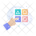 Solve Puzzle Pointing Touch Icon