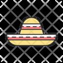 Sombrero Traditional Hat Icon