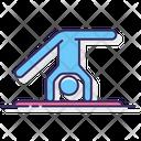 Somersault Gymnast Acrobatics Icon